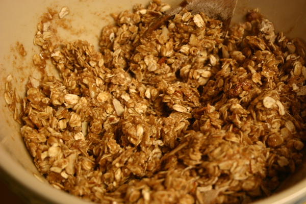 granola before cooking