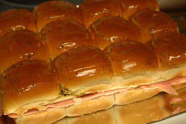 hot ham sandwiches