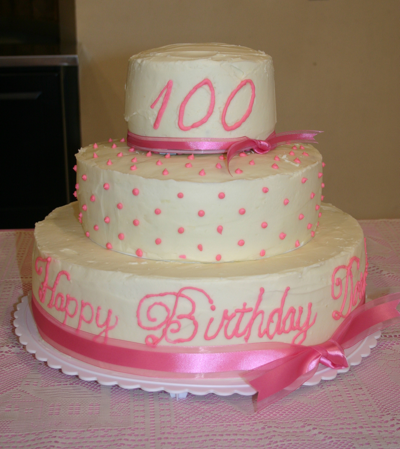 Cake And A 100th Birthday For