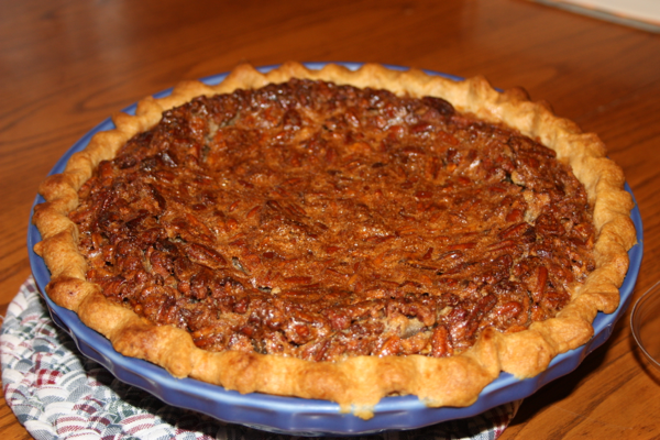 chocolate pecan bourbon pie