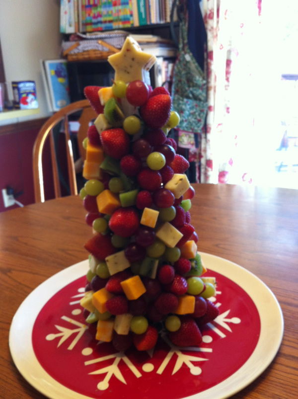 Dinah s dishes fruit and cheese tree