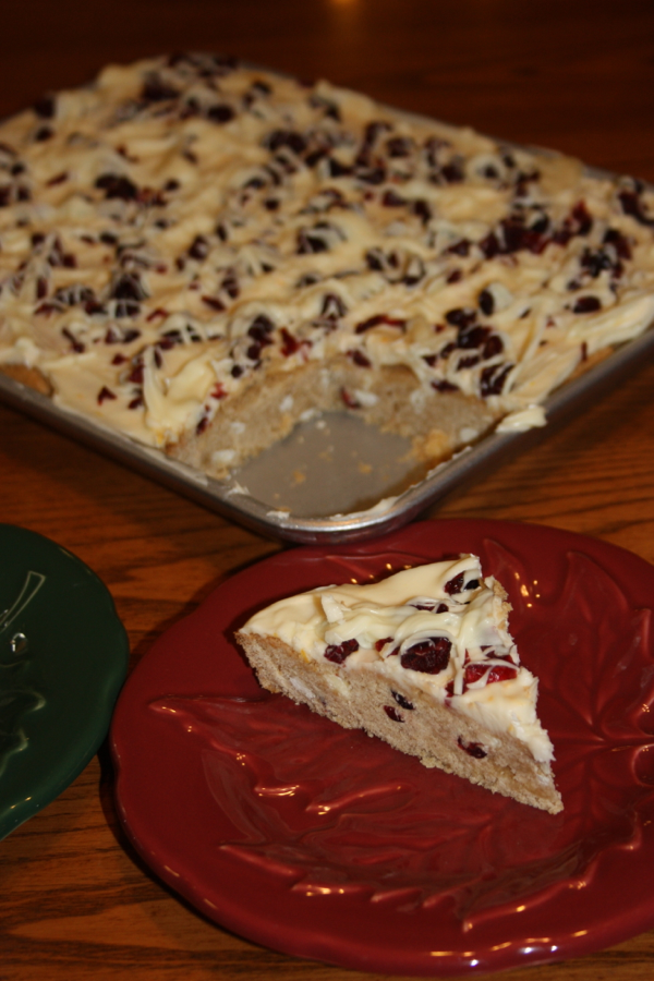 slice of cranberry bliss bar
