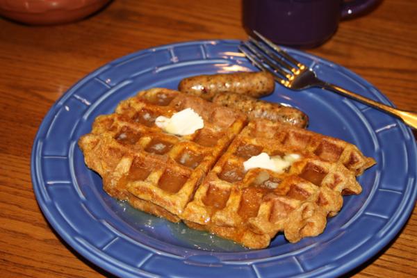 waffle brown butter pumpkin waffle peanut butter bacon buttermilk ...