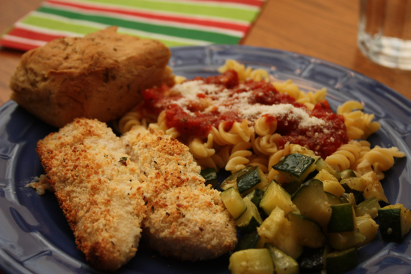 parm crusted chicken plate