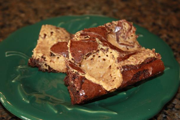 Peanut Butter Swirl Mini Brownies Recipe — Dishmaps