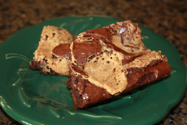 peanut butter swirl brownie