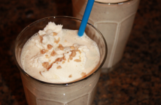 browned butter toffee milkshake